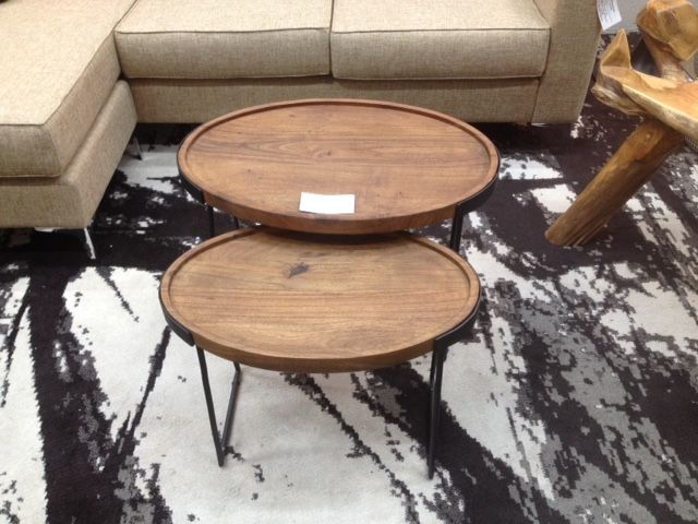 Oval nesting tables floor model is now on SALE  Solid Acacia wood Top L25 D. 46 best Coffee Table images on Pinterest   Coffee tables  Mid