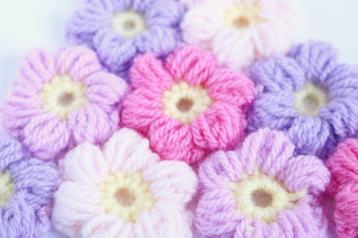Puff Flower Free pattern - Bella Coco by Sarah-Jayne