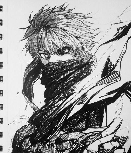 Ken Kaneki Drawing - Tokyo Ghoul