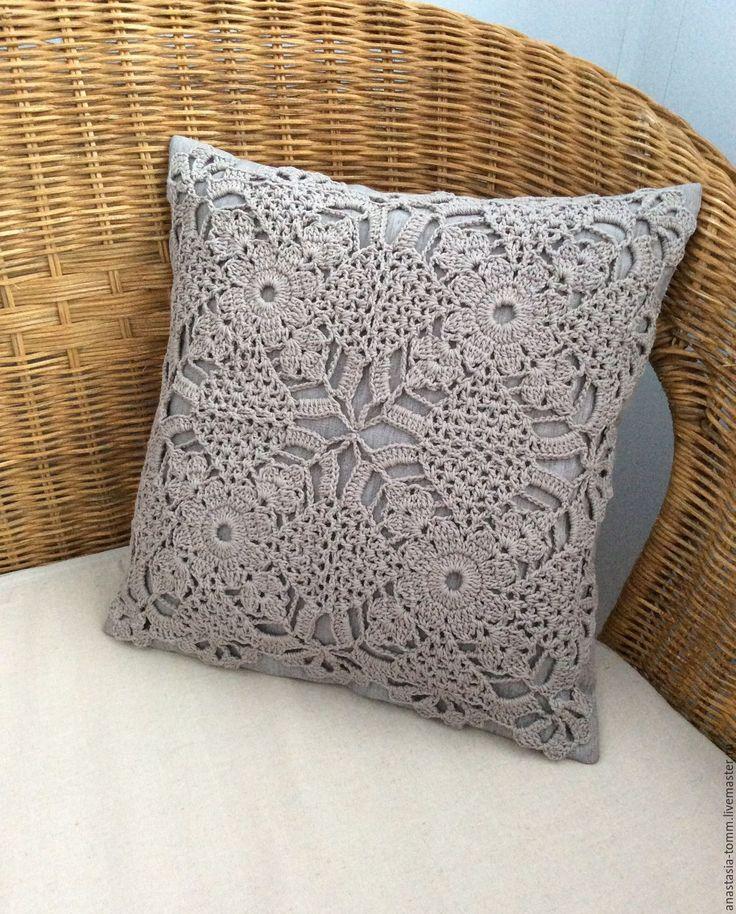 """Купить Комплект подушек """"День и ночь"""" - бежевый, белый, подушка, подушка декоративная, подушка на диван"""