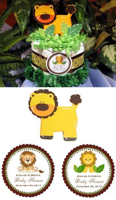 Lion King Baby Shower Ideas | Baby Shower Diaper Cake Centerpiece Baby Lion  Jungle Safari
