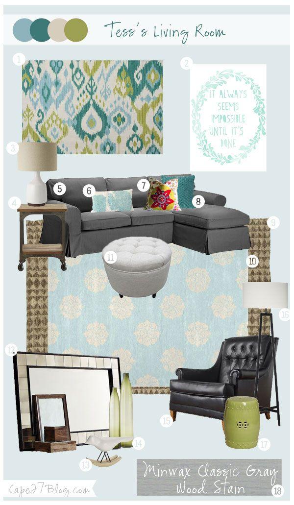 Cape 27 Custom Mood Boards: Tess's Living Space