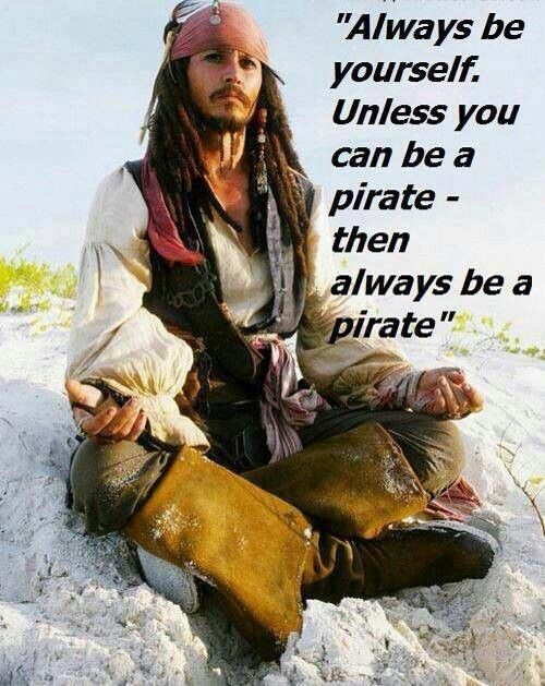 My favourite actor of all time: Johnny Depp as Captain Jack Sparrow in Pirates of the Caribbean.