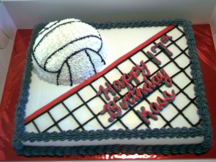 Volley Ball Cake cakepins.com