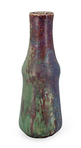 Toini Muona 1904-1987 A CERAMIC VASE. (d) Signed TM. Arabia. 1940s. Copper glaze. Height 31,5 cm.