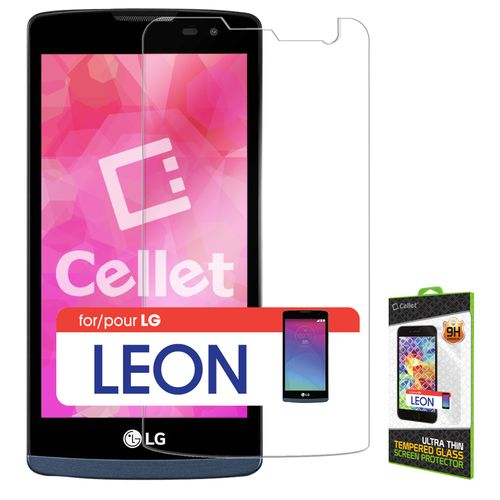 Tempered Glass [Cellet] Premium (0.3mm) Screen Protector Guard For Leon C40/Risio/Destiny L21G/Power L22C/Tribute 2 LS665 (T-Moible/Cricket/MetroPCS/Straight Talk) Cellphone