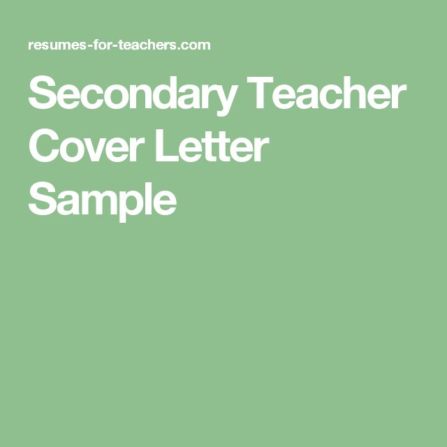 The 25+ best Cover letter teacher ideas on Pinterest Teacher - resume cover letter for teaching position