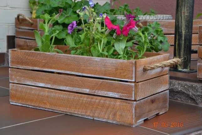 Продам деревянные горшки (кашпо) для сада Сумы - изображение 1