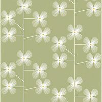 Habitat Geo Floral Printed Wallpaper - Sprout Green