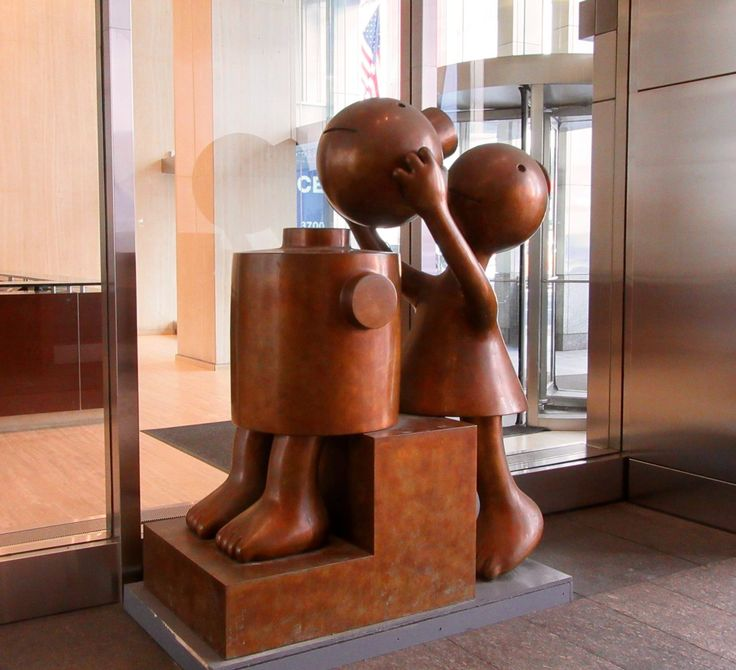 Cone Fixing Cylander By Tom Otterness