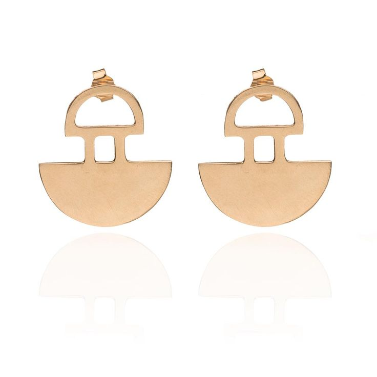 Hemicyclium statement earrings