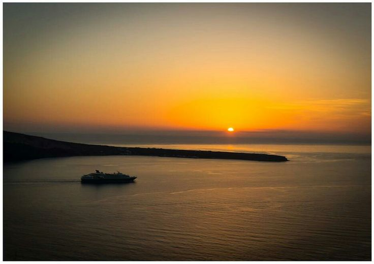 Sunset at Oia Santorini