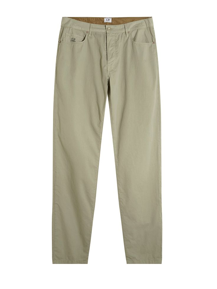 C.P. Company Five Pocket Trousers in Green
