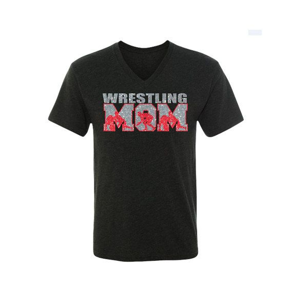 Wrestling Mom. Custom Wrestling Shirt. Vneck Shirt. Unisex Shirt. Triblend Mom Shrit. Wrestling Shirts. Wrestling. Custom Shirts. by TNTCustomApparel on Etsy