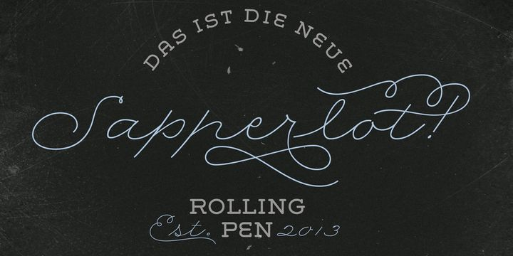 Rolling Pen / Webfont & Desktop font « MyFonts