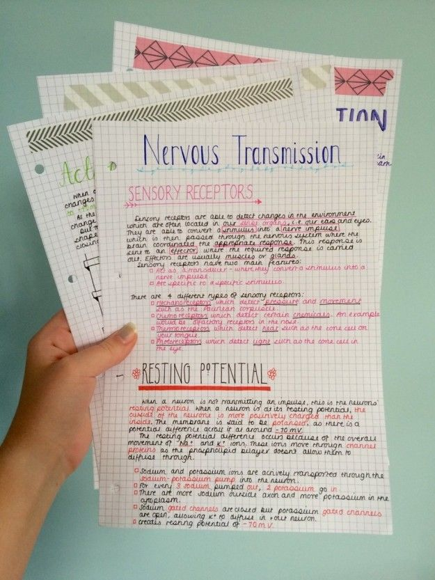 Look at that washi tape game. | 18 Gorgeous Study Notes That Should Be Framed As…