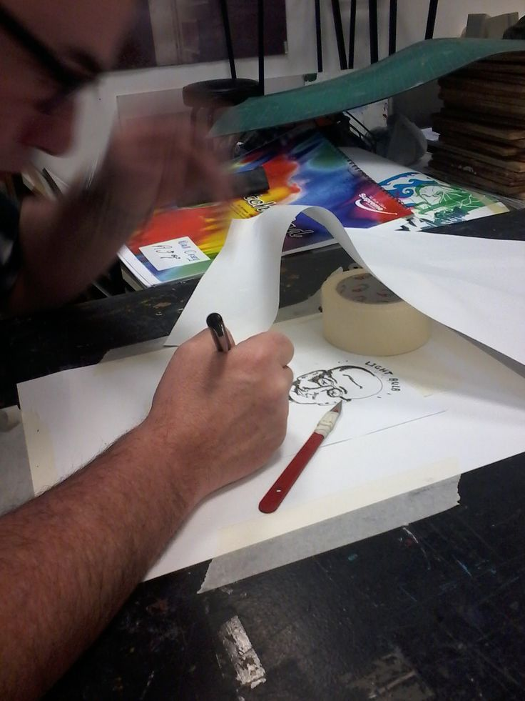 checking the stencil