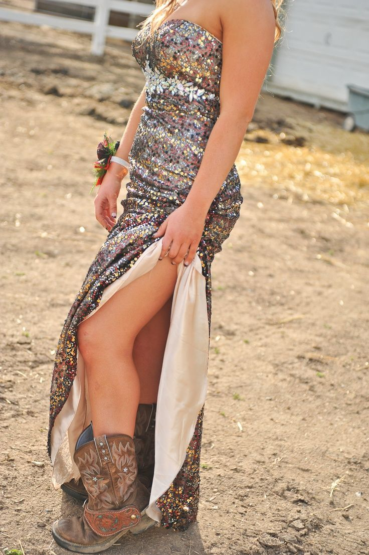 prom dresses with cowgirl boots - Google Search