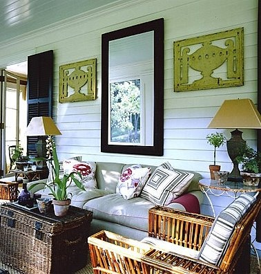 Screened In Porch   Like The Mirror And Shutters Framing The Doors.
