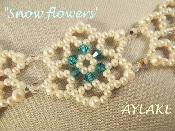 "How to do bracelet ""Snowflowers"" simple tutorial"