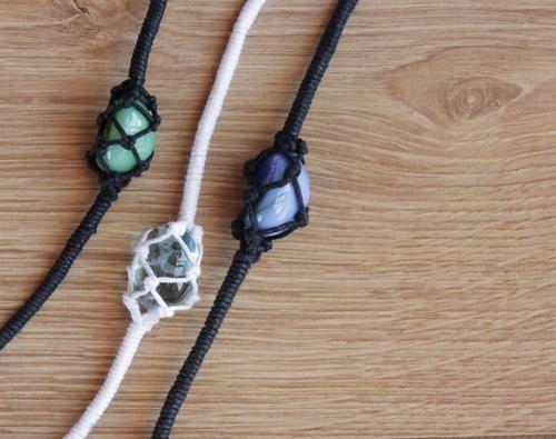 Netted Crystal Friendship Bracelet | AllFreeJewelryMaking.com
