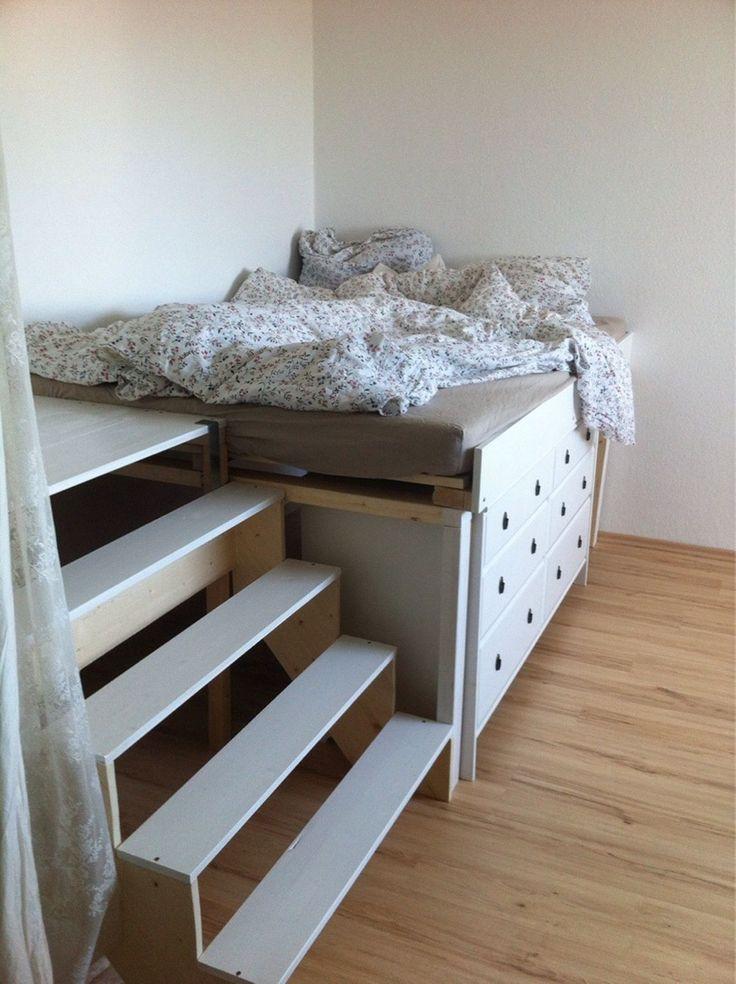 die besten 25 selber bauen podestbett ideen auf pinterest selber bauen podest selbst bauen. Black Bedroom Furniture Sets. Home Design Ideas