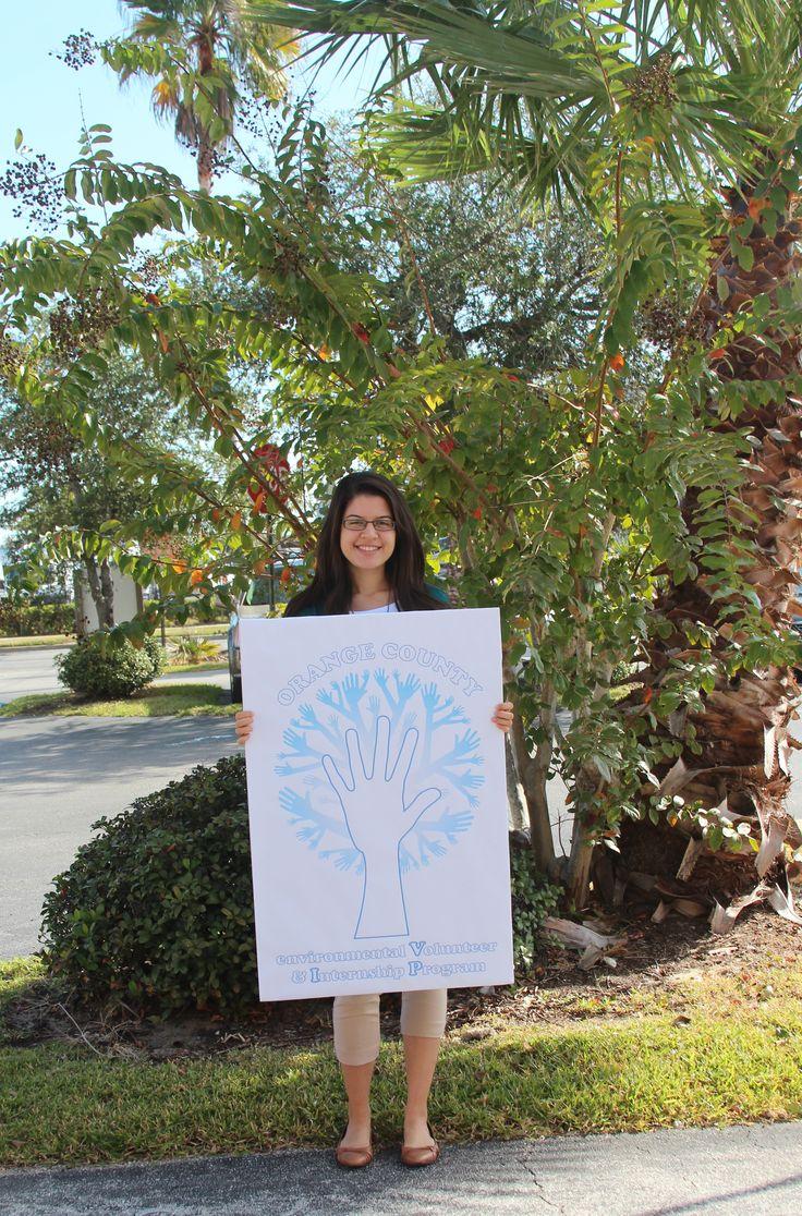 Sharon De Andrade interns at Orange County Environmental Protection Division.