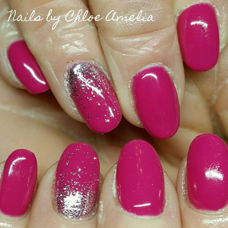 Fuschia nails- Pink nails- Calgel Manicure