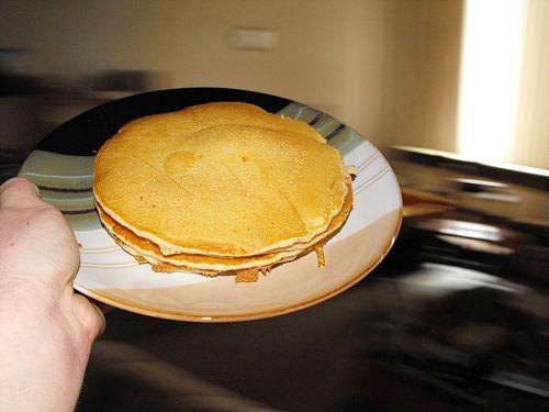 Des pancakes américains fins