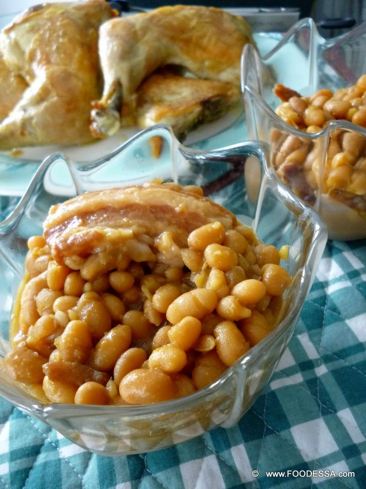 Quebec style baked BEANS feves au lard.   Like Spring, these white beans came alive along with much flavour in tow.  Pork belly ham, and a pouring of Spring time sweetness made beans popular again.