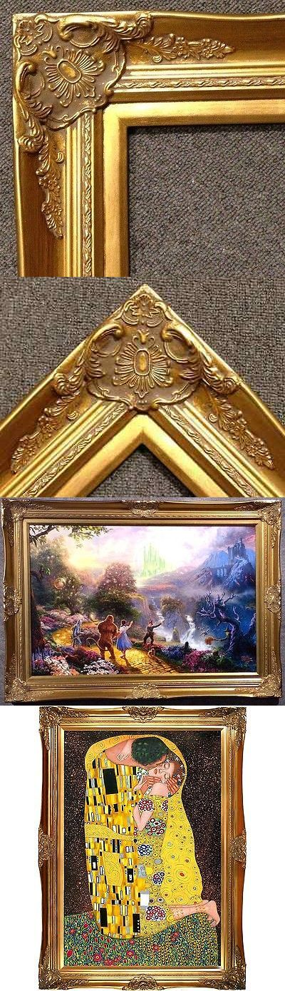 Frames 79654: 4 Gold Leaf Wood Antique Picture Frame Wide Photo Art Wedding Gallery B9g -> BUY IT NOW ONLY: $79.45 on eBay!