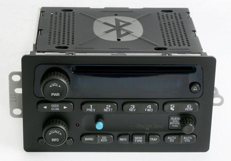 Chevy 2003 to 05 Truck CD Player w Bluetooth Music Upgrade GM Delco 15138488 Fits Escalade Sierra Silverado Suburban Trailblazer Tahoe Yukon