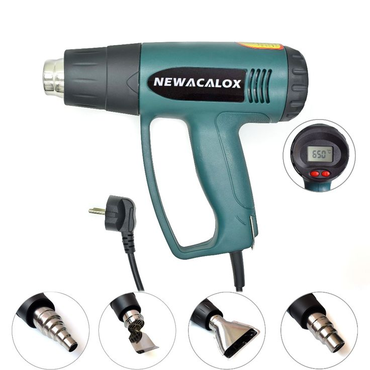 2000 W 220 V EU Plug Industri Listrik Hot Air Gun Thermoregulator LCD Display Senjata Panas Menyusut Pembungkus Termal Pemanas Nozzle