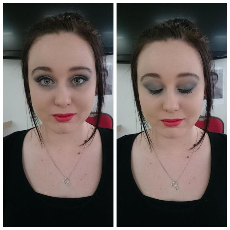 Shadow smokey eye done by me