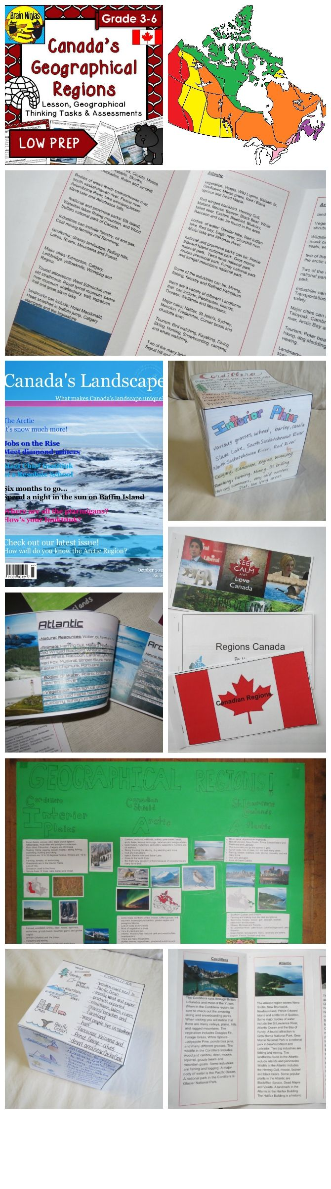 These seven projects are to develop skills on Canada's Geographical Regions.  Comes with a complete lesson plan and assessment tools.