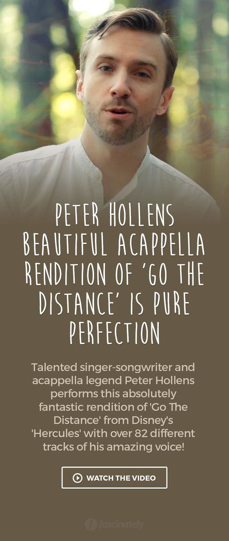 Peter Hollens Beautiful Acappella Rendition of 'Go The Distance' is Pure Perfection