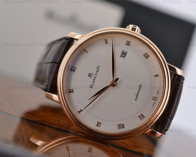 Blancpain Ultra Slim Automaitc in 18K Rose Gold Reference 6223-3642-55b