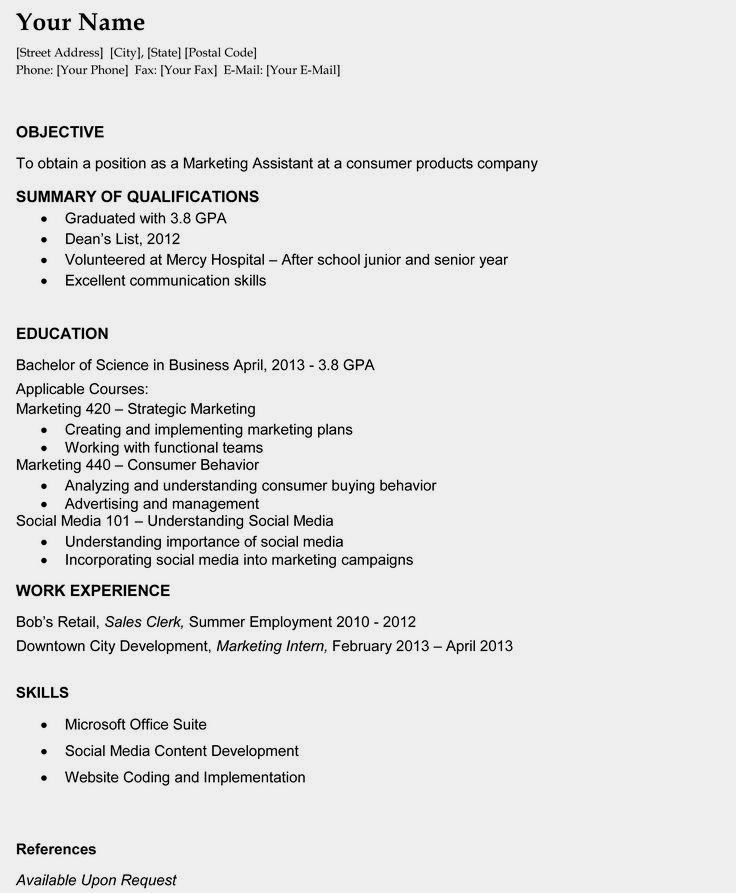 College Grads How Your Resume Should Look Fastweb 14 Reasons This Is A Perfect Recent Resume Objective Examples Good Objective For Resume Job Resume Samples