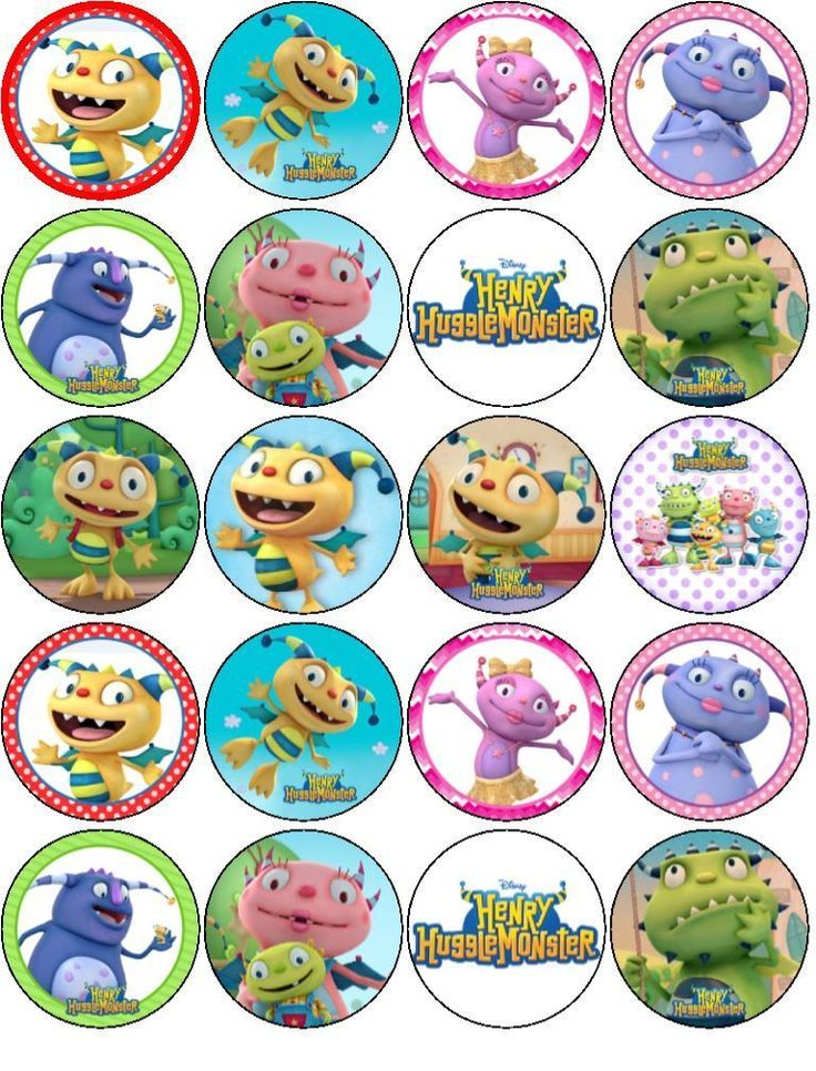 "20 X 2""INCH HENRY HUGGLE V1 EDIBLE WAFER PAPER CUPCAKE CAKES TOPPERS in Crafts, Cake Decorating 