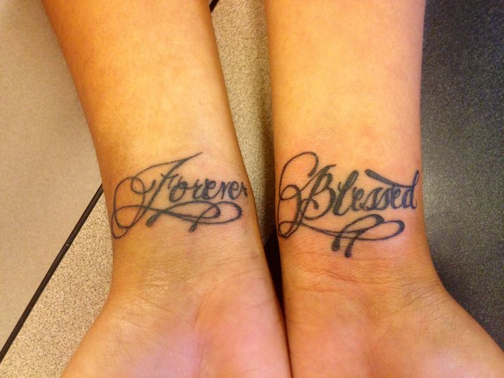 My Daughters Wrist Forever Blessed Tattoos Pinterest