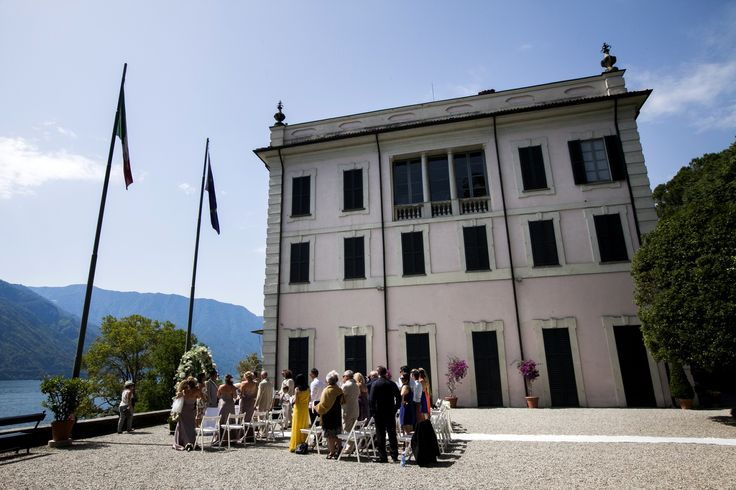 civil ceremony at Villa Carlotta with #whiteemotion