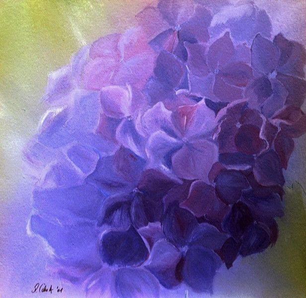 Hortensia+No.1++-+Acryl+schilderij+ca.+80+x+80+cm+van+Paint+and+Patch+op+DaWanda.com