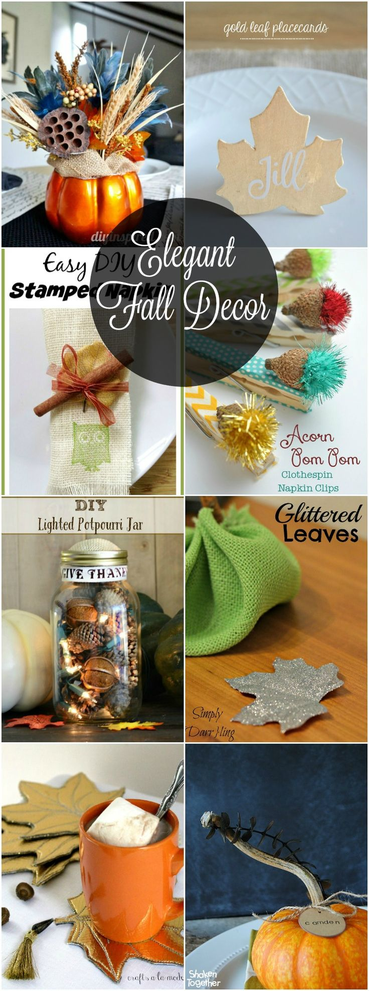 Elegant Fall Decor that is the perfect way to set the decor for Thanksgiving