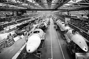 Avro Vulcan production line in1957