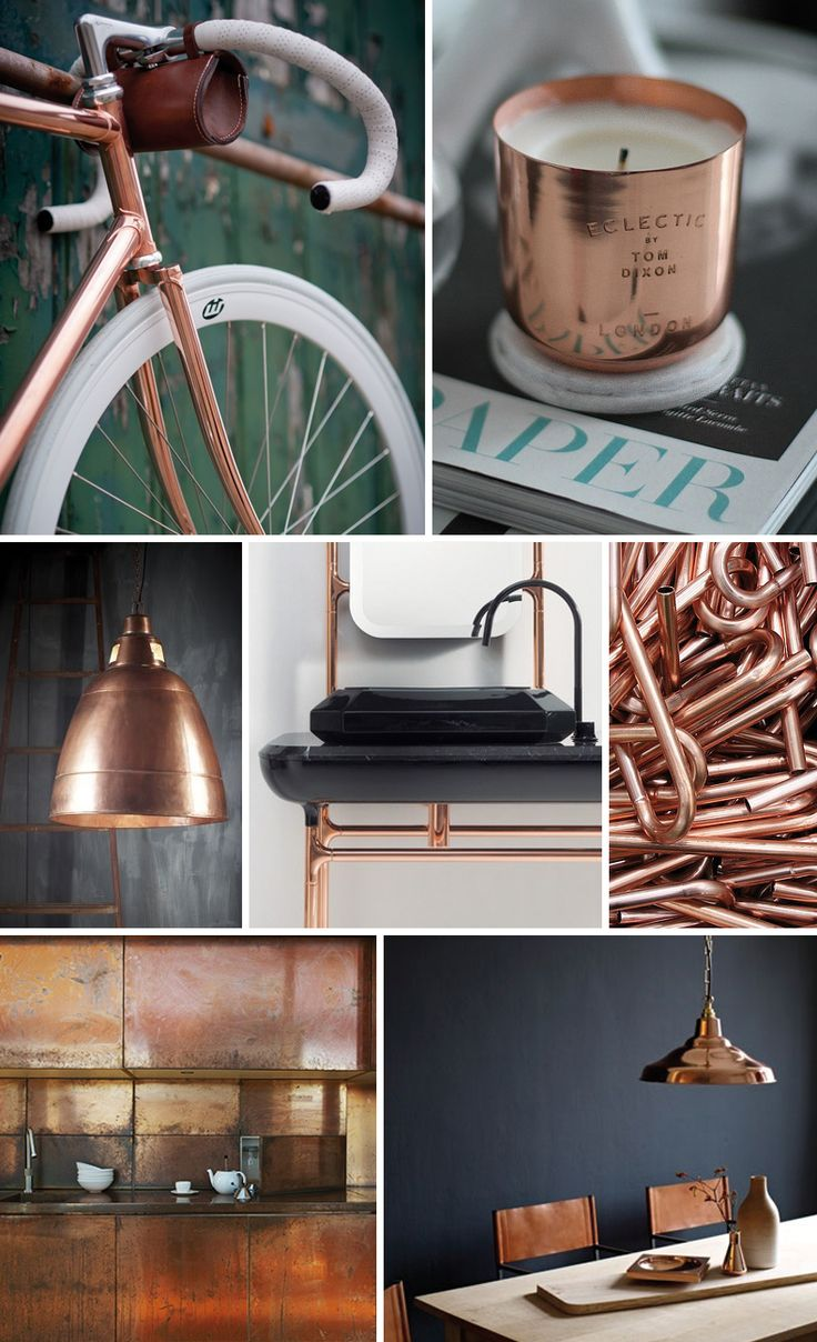 40 best images about color cuivre bronze etain on pinterest copper copper wall and do it yourself. Black Bedroom Furniture Sets. Home Design Ideas