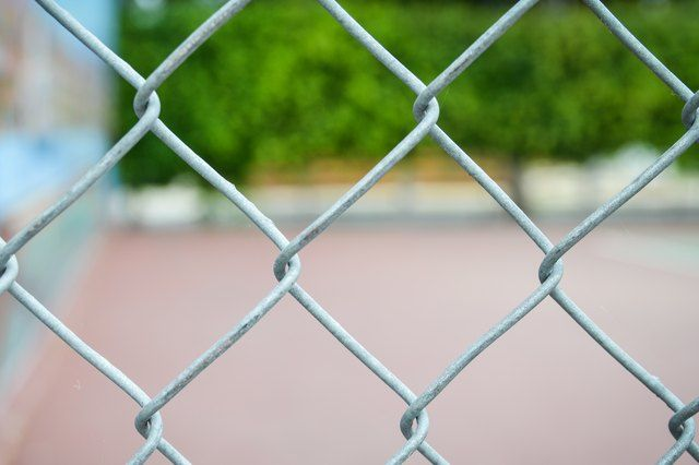 How To Paint A Chain Link Fence Painted Chain Link Fence Chain Link Fence Fence Landscaping