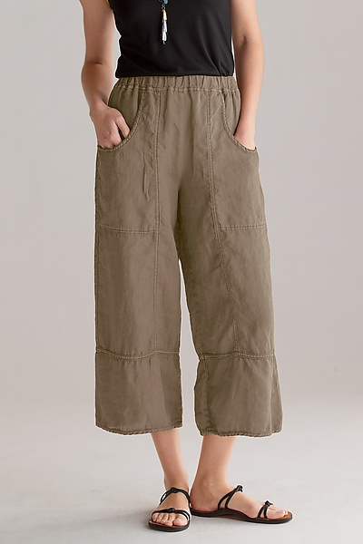 cynthia ashby cropped linen pants