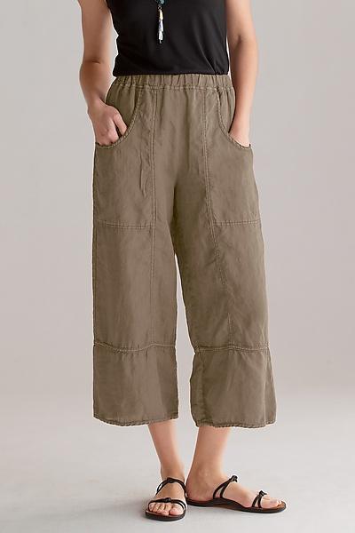 cynthia ashby cropped linen pants