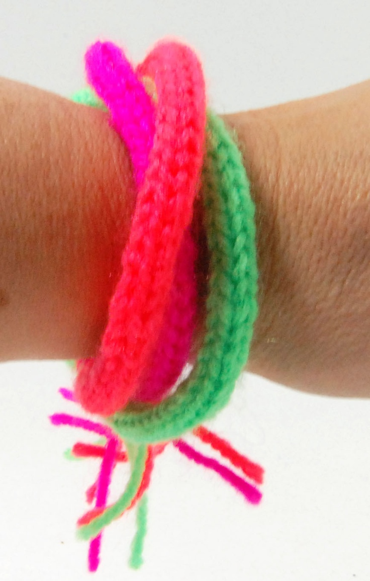 274 best Knitted Jewellery images on Pinterest | Knitted bracelet ...