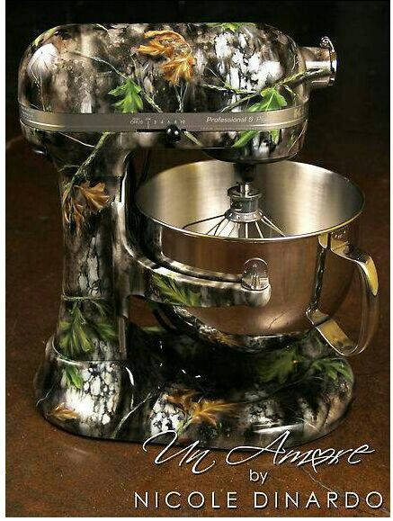 Camo Kitchen aid mixer < the fact that this exists is freaking awesome.
